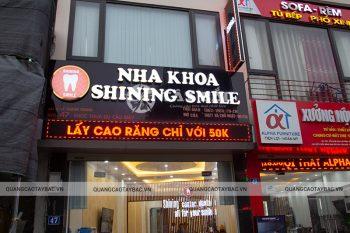 Biển quảng cáo nha khoa Shining Smile