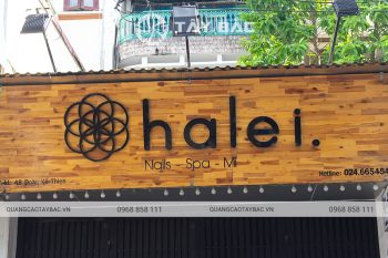 Biển quảng cáo nail Halei