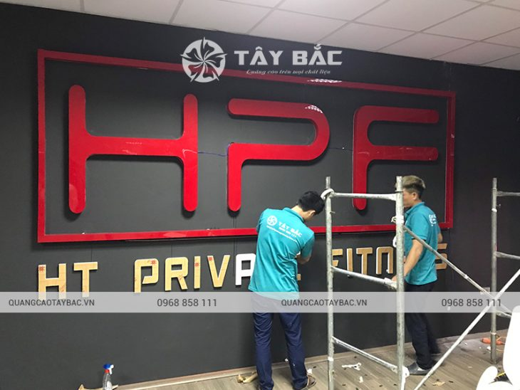 biển quảng cáo phòng Gym HPF