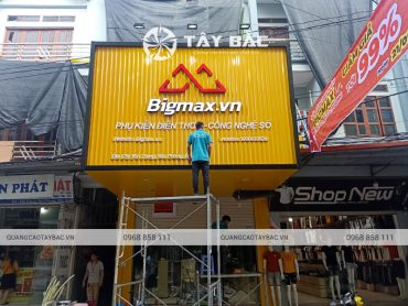 Biển quảng cáo phụ kiện điện thoại bigmax