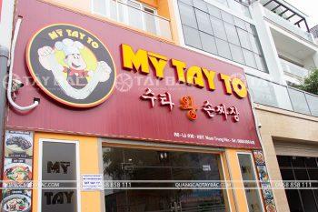 Biển quảng cáo nhà hàng mỹ Tay To